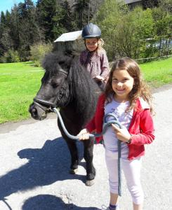 pony mit kinder